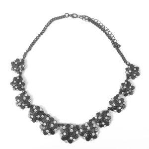 Black Necklace with rhinestones
